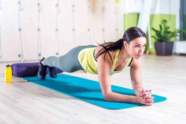 Planks, a great way to build a stronger core.