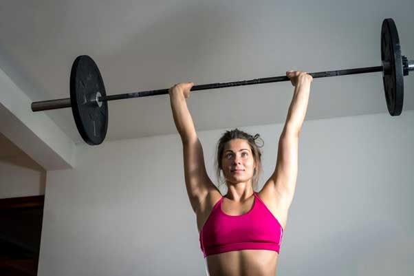 Push Press: A great move to improve shoulder strength.