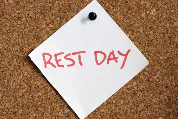 Rest days, and why are they important.