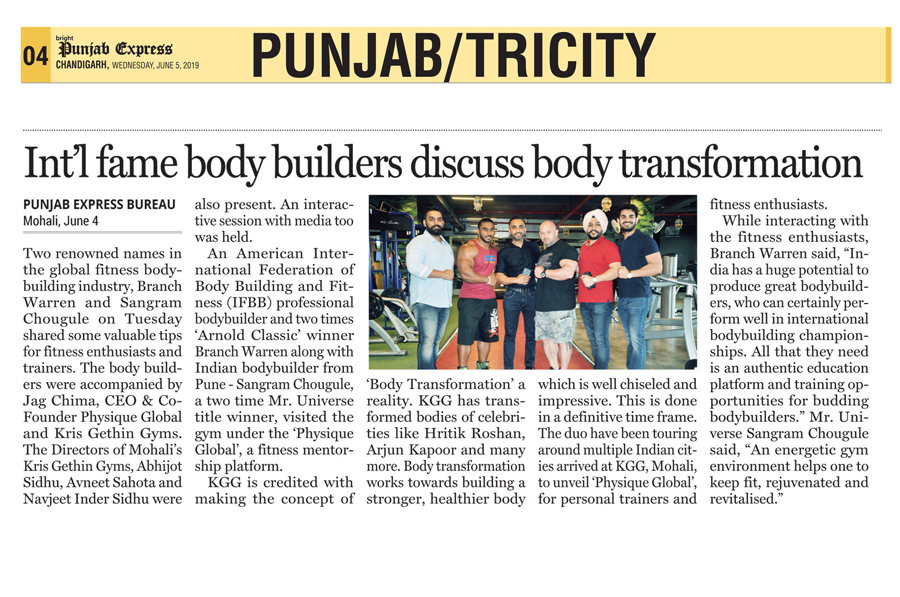 Int'l fame Body Builders Discuss Body Transformation