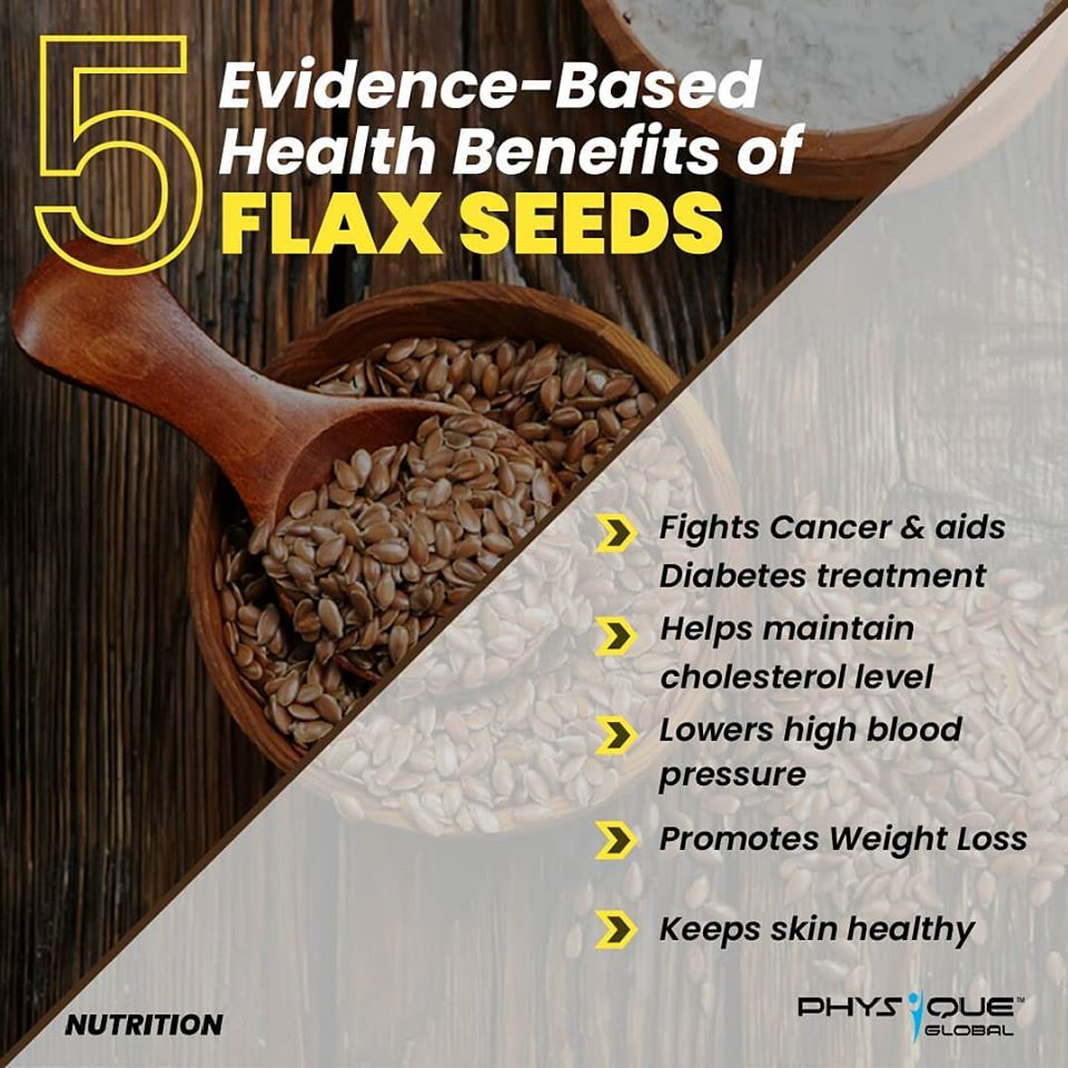 5 Evidence- Based Health Benefits of Flax Seeds